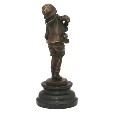 Accordion Harmonica player character bronze sculpture music – image 4
