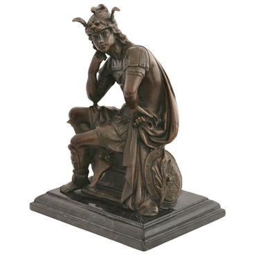Legionnaire Roman thinkers bronze sculpture bronze figure of a young man repro helmet cape – image 1
