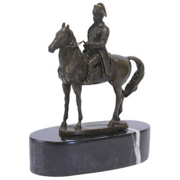Equestrian bronze statue of Napoleon on horseback representing history – image 1