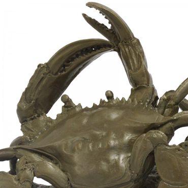 Meerestiere Bronzefigur Krabben Bronze Skulptur Krebs Tiere Strand gepanzert – Bild 2