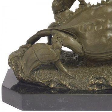 Meerestiere Bronzefigur Krabben Bronze Skulptur Krebs Tiere Strand gepanzert – Bild 4