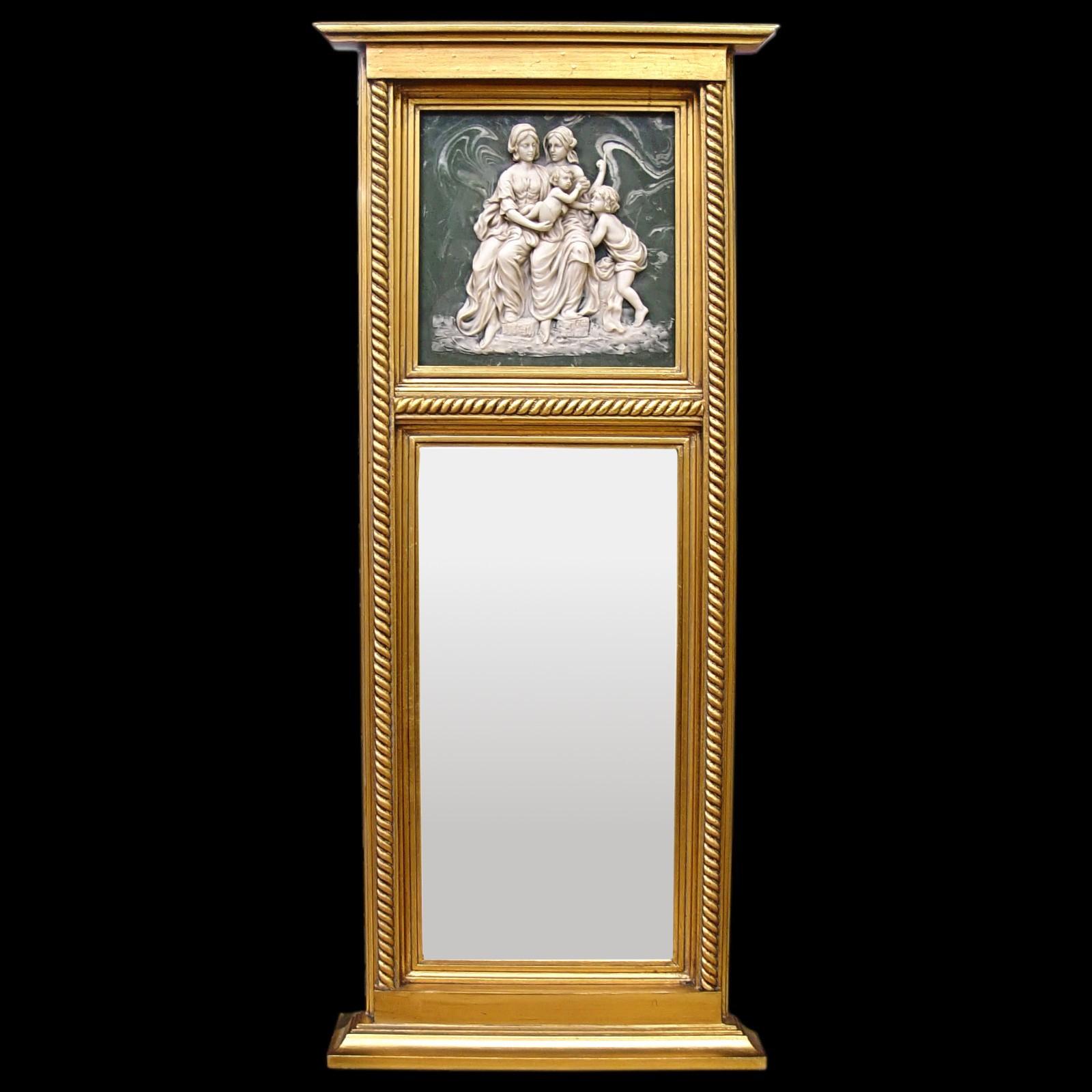Mirror Cheval Color Gold Nostalgia 3d Women White Green Bild 1