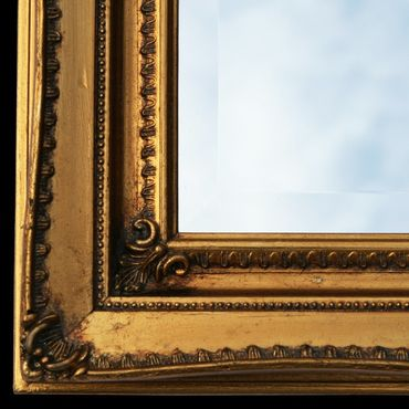 Baroque frame solid wood antique gold crystal mirror 30x40 Wall Mirror Mirror – image 3