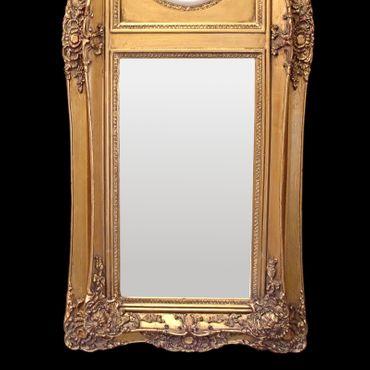 Baroque Wall Mirror Mirror Vintage 2 white angel cherubs Application  – image 3