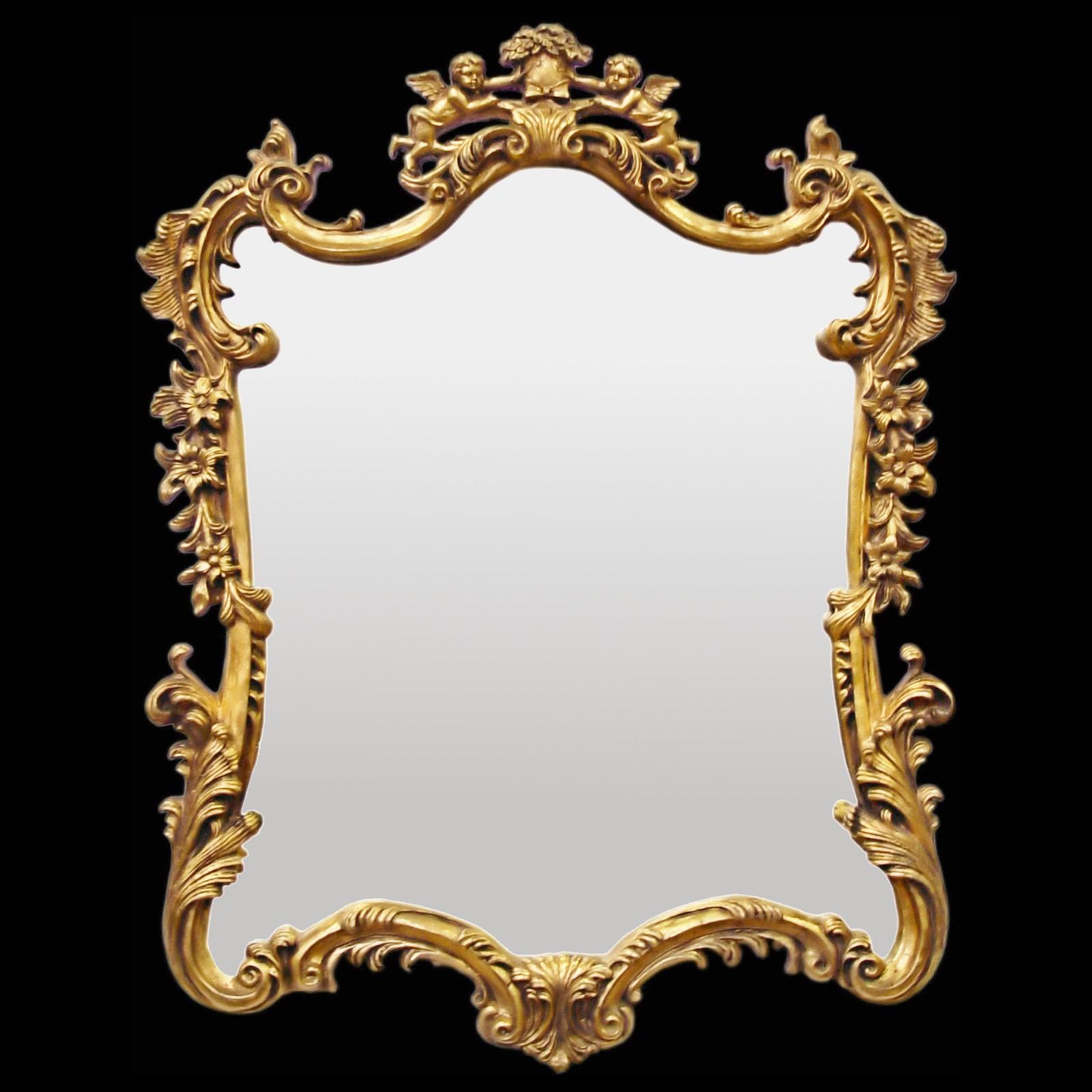 Favorite Retro mirror decorated Baroque Wall Mirror Gold Angel Petals  DR58