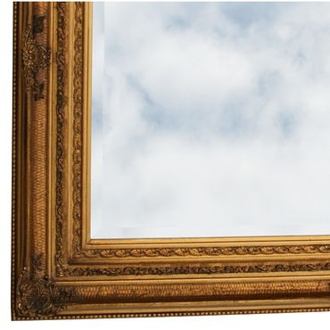 Picture frame made of solid wood with crystal glass mirror wall mirror Baroque 60x90cm/ 24x35 inches – image 3