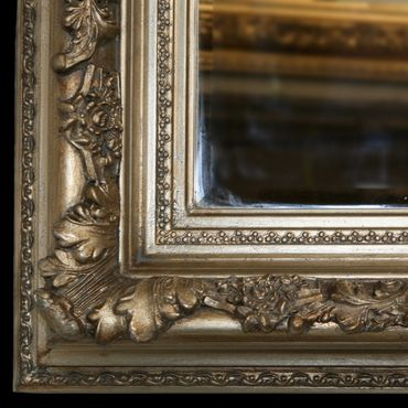 Wood frame silver antique silver baroque cheval mirror wall rectangular 60 x 150/ 24 x 59 inches – image 2