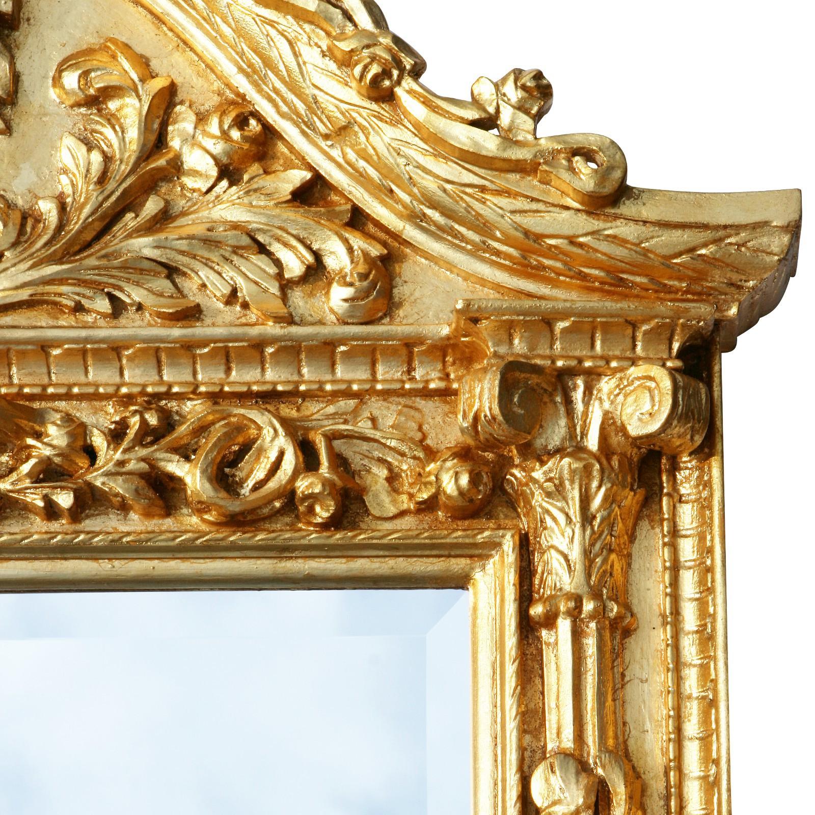 Luxurious Golden Wall Mirror Baroque Design Home Décor