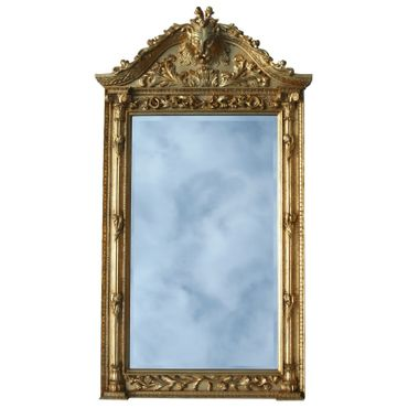 Lion face mirror with bracket 2-piece XXL Gold console with crystal mirror in baroque furniture – image 2