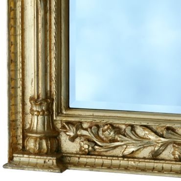 Lion face mirror with bracket 2-piece XXL Gold console with crystal mirror in baroque furniture – image 4