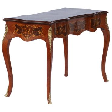 Baroque Retro Table with Drawers Solid Wood Hand Sculpted – image 3