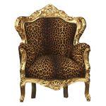 Thron leopard gold König Barock Sessel exotisch Afrika Antik 001