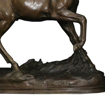 Arab horse sculpture statue bronze collectable ornament marble trotting figurine – image 5