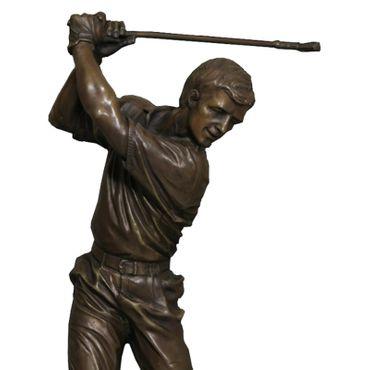 Bronze statue golfer sculpture figure golfer ornament garden marble collectable – image 4