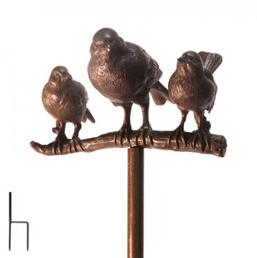 Bird on Branch in Polished Bronze For the Garden