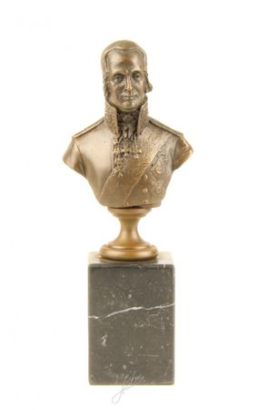 Bust of Admiral Ushakov Bronze Men bust with marble block – image 1