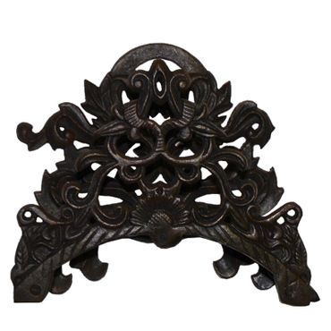Nostalgic garden hose holders with antique baroque style made of iron cast – image 1