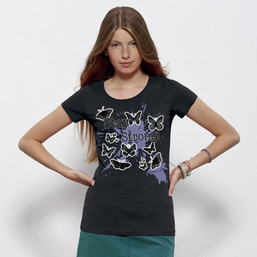 """Butterflies"" Ladies Shirt – Bild 7"