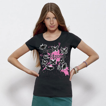 """Butterflies"" Ladies Shirt – Bild 8"