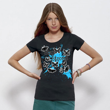 """Butterflies"" Ladies Shirt – Bild 10"