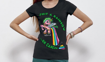 """Shit a Rainbow"" Ladies Shirt"