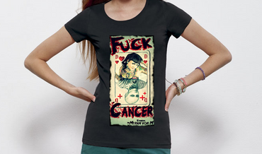 """Original Fuck Cancer"" Ladies Shirt"