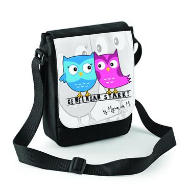 """Gemeinsam Stark - Eulen"" Mini Reporter Bag"