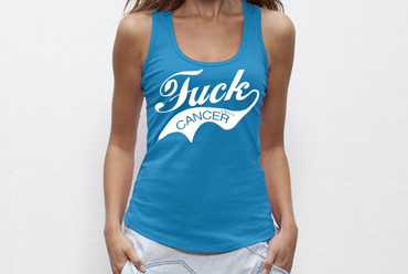 """Retro - Fuck Cancer"" Ladies Tank Top – Bild 2"
