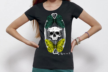 """ButterflySkull"" Ladies Shirt"