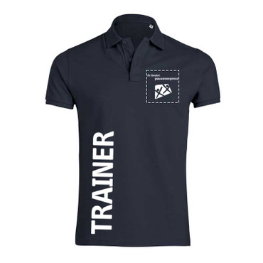 "Pausenexpress - ""Trainer"" Polo Herren"
