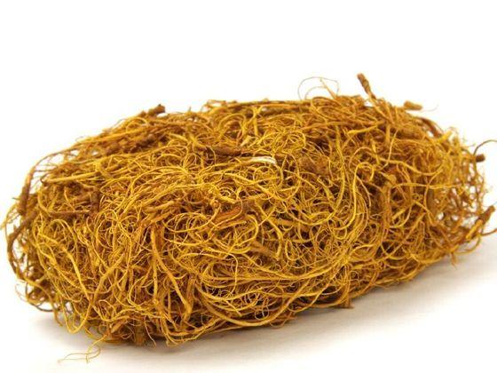 Curly Moos gelb 50g – Bild