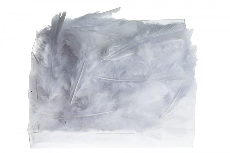 Marabufedern weiß 45g