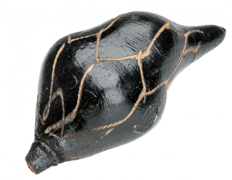 Baobab Frucht schwarz geschnitzt ca. 8-11cm