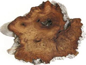 Maserholzscheibe geschliffen & poliert 1kg – Bild