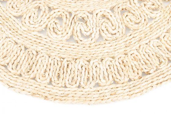 Strohteppich mit Muster 60 cm rund – Bild 3
