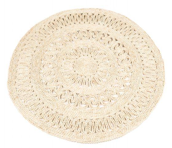 Strohteppich mit Muster 90 cm rund – Bild 1