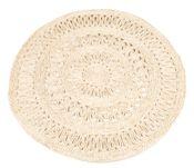 Strohteppich mit Muster 120 cm rund – Bild 1
