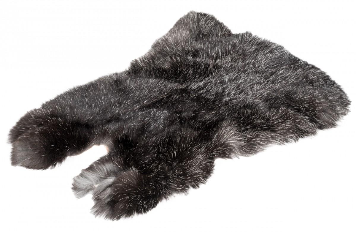 Hasenfell schwarz silber | Kaninchenfell