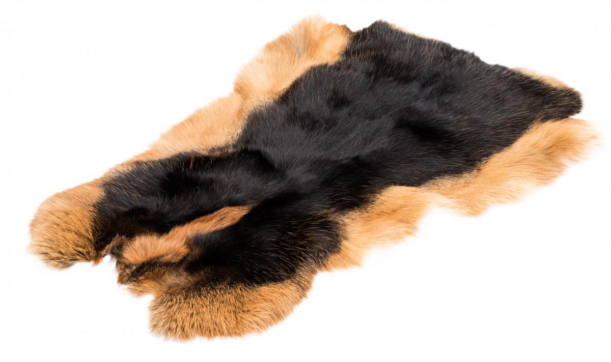 Hasenfell schwarz Loh  | Kaninchenfell