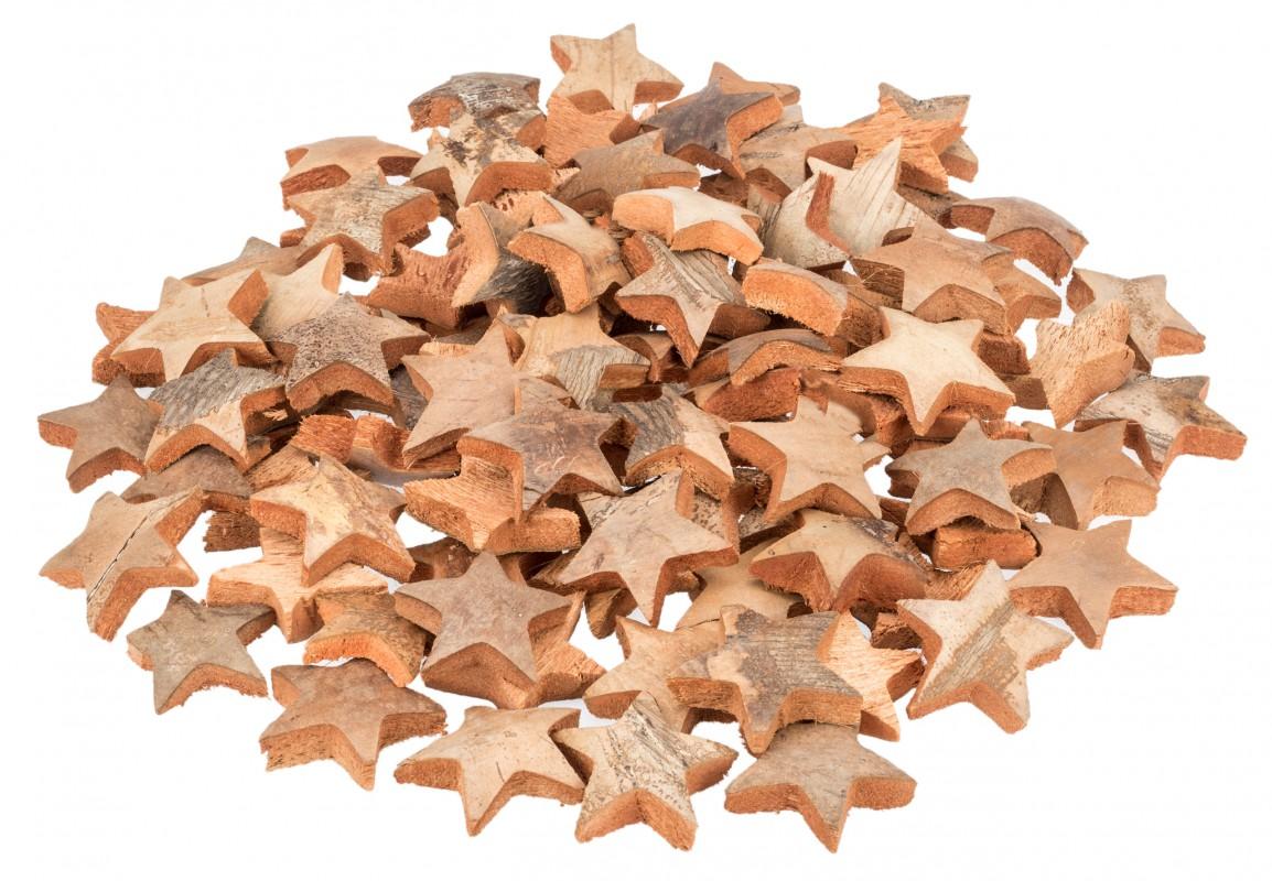 Kokos Stern natur 100Stk. ca. 5cm