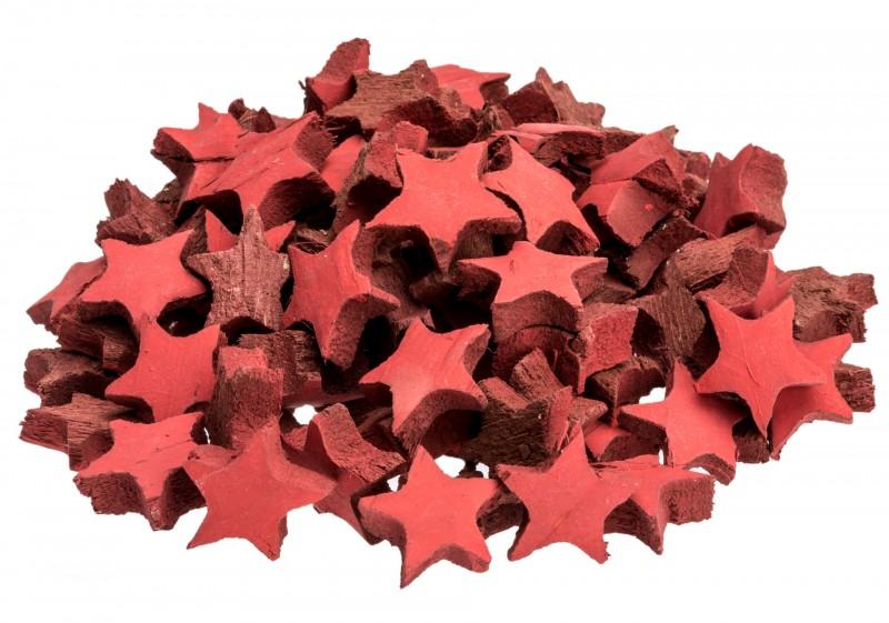 Kokos Stern mini rot 100 Stk. ca. 3cm