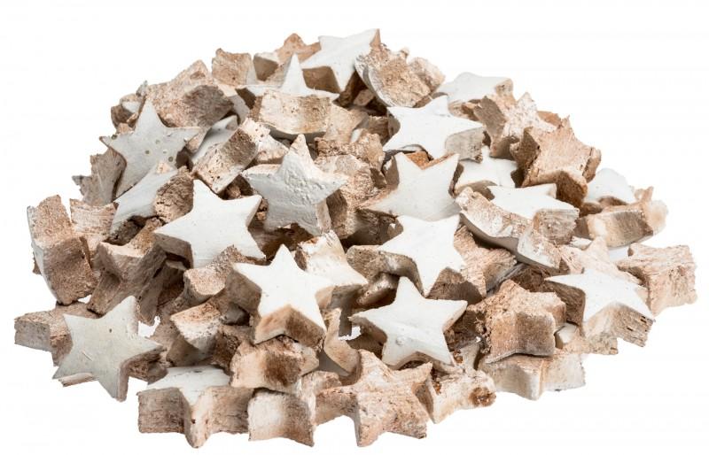 Kokos Stern mini weiß 100 Stk. ca. 3cm