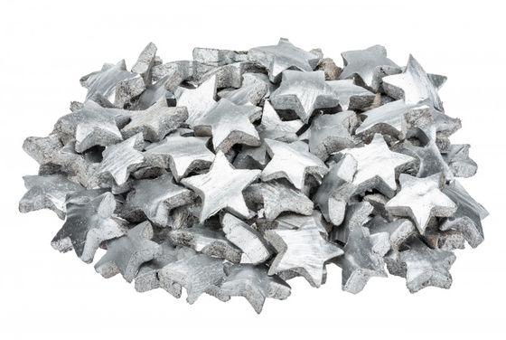 Kokos Stern silber ca. 5cm – Bild