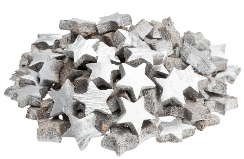 Kokos Stern mini silber 100 Stk. ca. 3cm