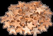 Kokos Stern natur XL 10cm 50 Stk. – Bild 1