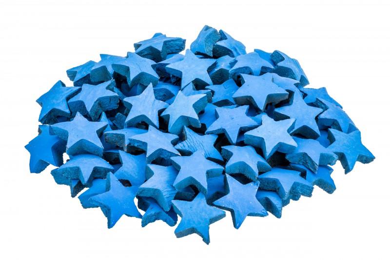 Kokos Stern blau ca. 5cm 100Stk.