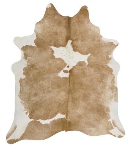 Kuhfell beige weiß gescheckt 3-4m² – Bild 1