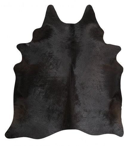 Kuhfell schwarz uni 3-4m²