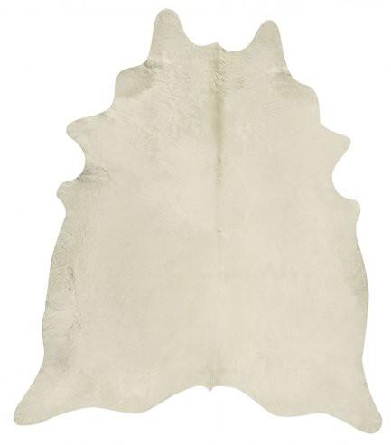 Kuhfell weiß uni 3-4m²
