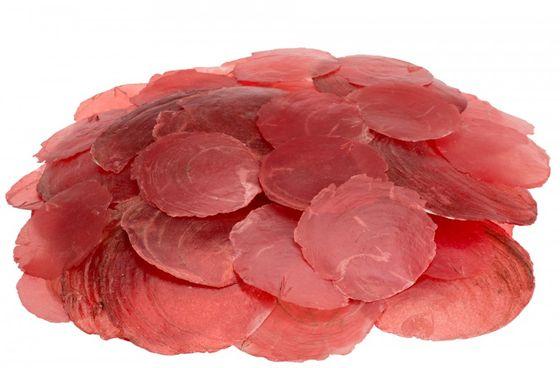 Camar rot 0,5kg | Perlmuttscheiben – Bild
